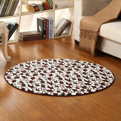 Buy COLORMIX 100X100CM Floor Mat Small Stones Pattern Anti Slip Floor Rug Bedside Mat for $29.70 in GearBest store