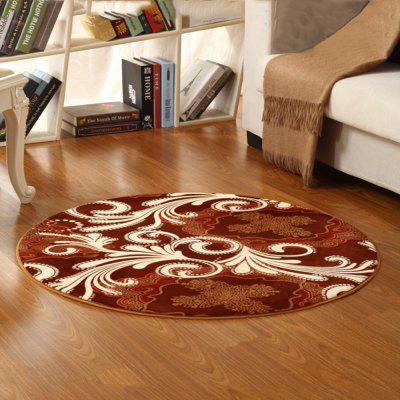 Floor Mat Classic Floral Round Rug Bedside Mat