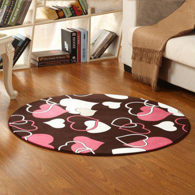 Buy COLORMIX 60X60CM Floor Mat Sweet Heart Shaped Pattern Round Rug Bedside Mat for $12.49 in GearBest store