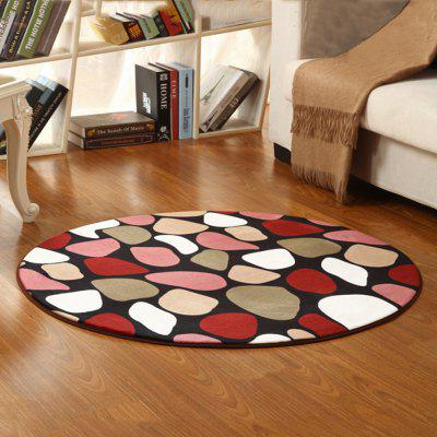 Mat Cute Colorful Stons Pattern Anti Slip Floor Rug Bedside Mat
