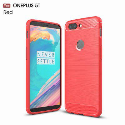 Buy RED For OnePlus 5T Case Cover Carbon Fiber Luxury Silicone Soft Texture Back Phone Cases for $4.96 in GearBest store