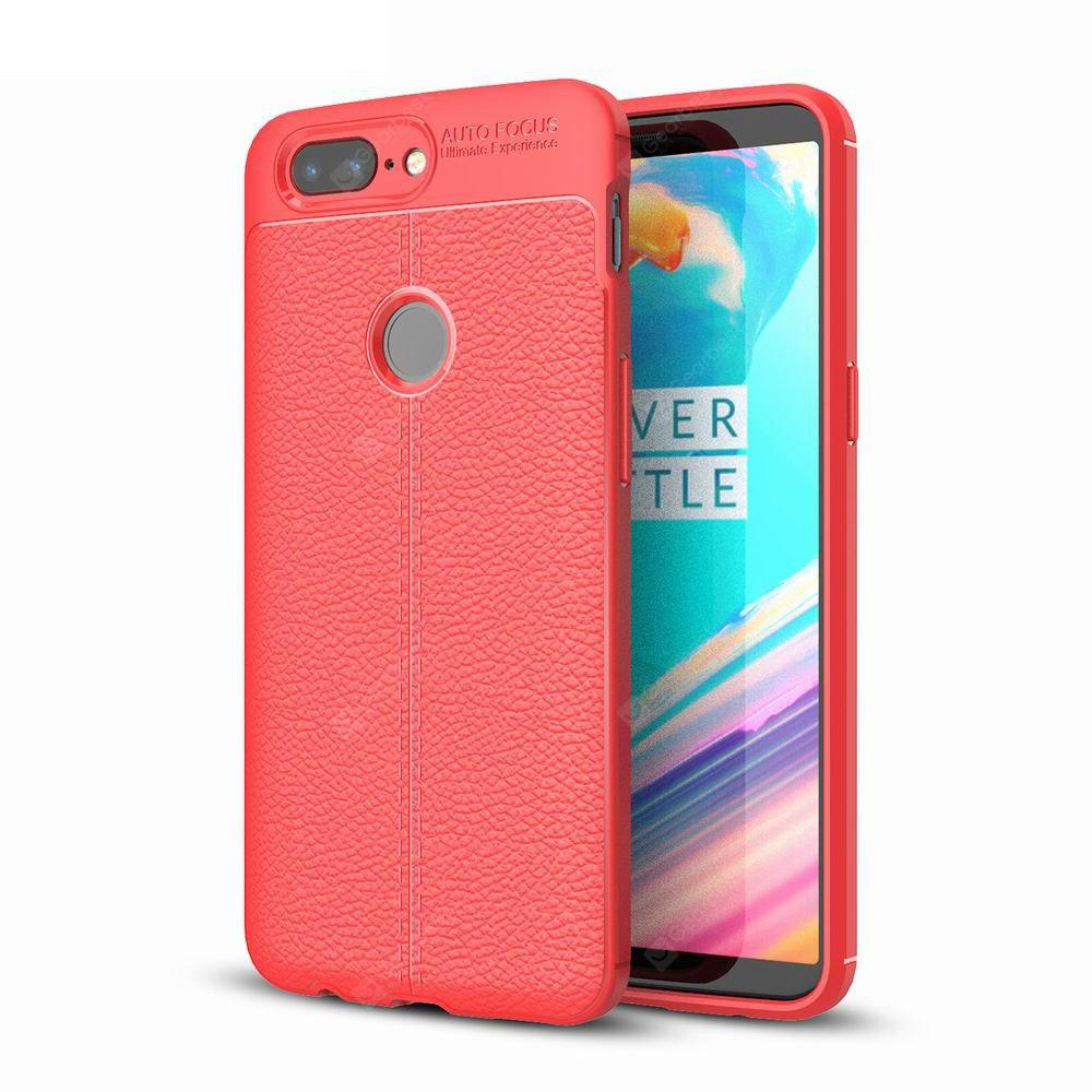 Case Cover Luxury Silicone TPU Leather Texture For Oneplus5T Phone Case