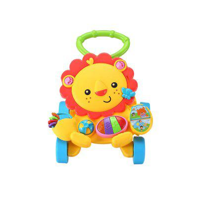 Cute Lion Baby Versatile Early Childhood Puzzle Walker Baby Stroller