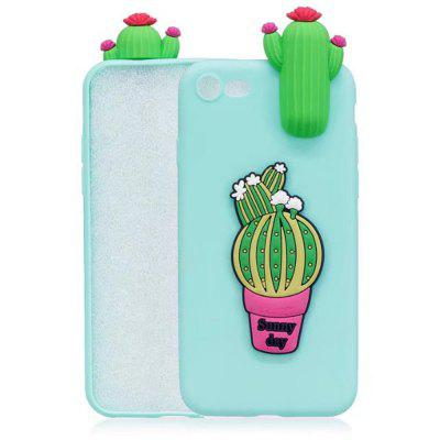 3D Cartoon Animals Cute Cactus Soft Silicone Case Skin For iPhone 8/7