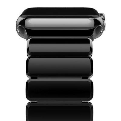 Buy JET BLACK Oittm for Apple Watch Series 3 Band 42mm Stainless Steel Replacement Strap Link Bracelet Metal for iWatch Band for $37.17 in GearBest store