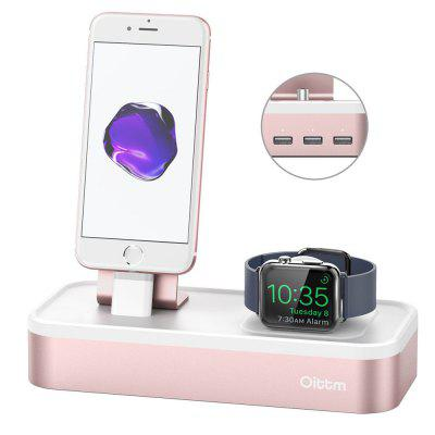 Oittm for Apple Watch Series 3 Stand 5-port USB Rechargeable Stand for iWatch and iPhone/iPad Mini/iPod/Apple Pencil