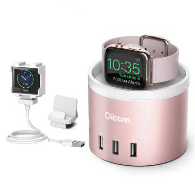 Oittm for Apple Watch Charging Stand with Holder USB Charging Port for iPhone X/8/8 Plus/7/7 Plus/iWatch/Fitbit Blaze