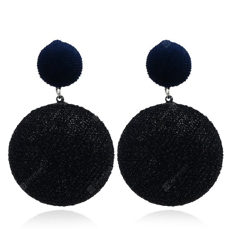 Round Vintage Round Flannel Earrings