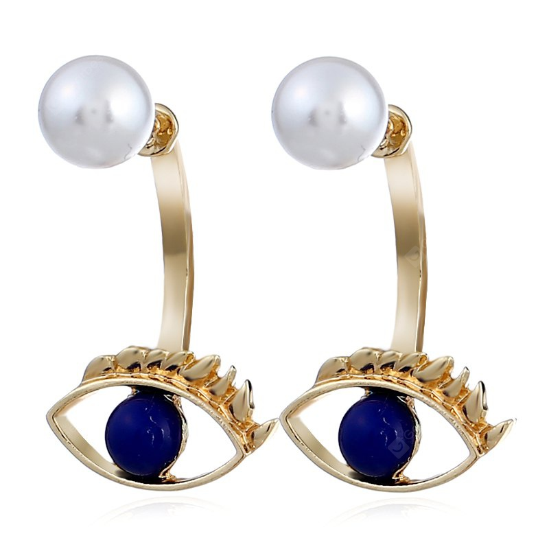 Alloy Eyes with Pearl Earrings