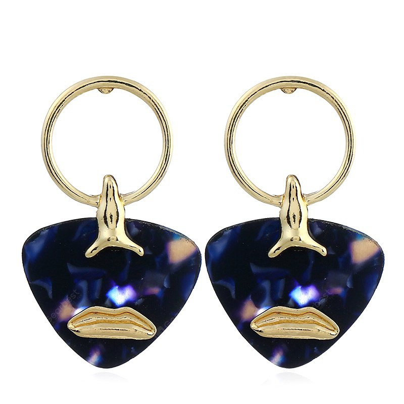 Fashionable Star Geometry Graphic Alloy Earrings