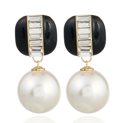 Fashion Pearl Pendant Acrylic Earrings