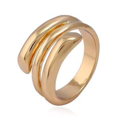 Fashion Alloy Round Multi-Layer Ring