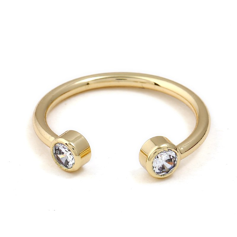 European and American Hot Style OL Diamond-Encrusted Ring