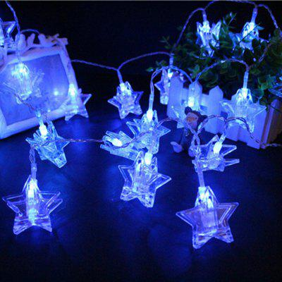 BRELONG 20LED Pentagram clip light string Blue coupons