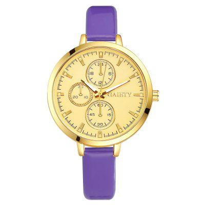 GAIETY G194 Ladies Thin Leather Strap Luxury Gold Dial Dress Women Watch