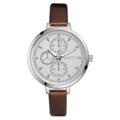 GAIETY G196 Ladies Fashion Casual Leather Strap watch