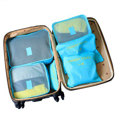 6 bags of bags  travel bags  6 space saving including bags   tissue travel (blue)