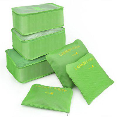6 bags of bags  travel bags 6 space saving including bags  tissue travel (green)