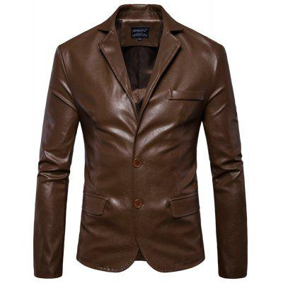 New Men'S Leather Coat