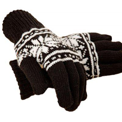 Men's warm gloves and outdoor cycling with five finger knitted full - Finger Gloves