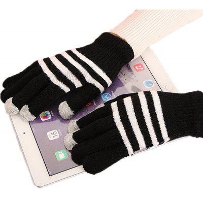 Lovers' Touch Screen Glove for Men and Women in Winter, Knitting Wool and Warm Korean Edition, Students Riding Five Fing