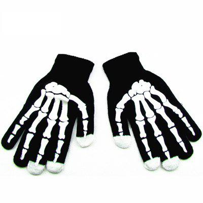 Autumn Winter Computer Special Gloves Wool Cotton Warm Fashion Skeleton Hand and Claw Men and Women Gloves