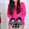 Autumn Winter Computer Special Gloves Wool Cotton Warm Fashion Skeleton Hand and Claw Men and Women Gloves - BLACK