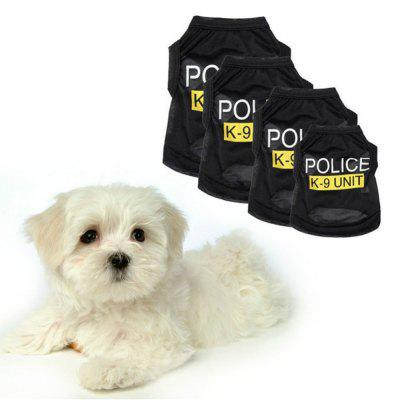 Pet Dog Vest Clothes Puppy T-Shirt Coat Summer Apparel Costumes Black