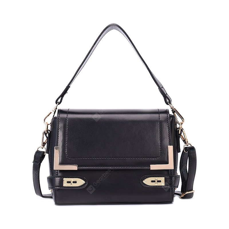 Simple Shoulder Bag Fashion Solid Color Wide Shoulder Strap Messenger Bag Retro Personality Small Square Bag