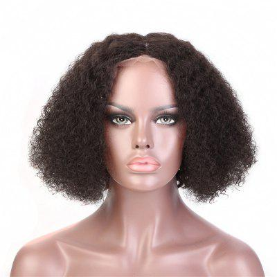 Brazilian virgin human hair lace wigs curly black color 14inch 16inch 18inch