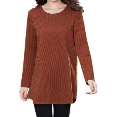 Long Sleeved Large-size Women's Wearing  T-shirt