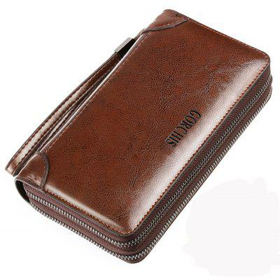 Men's Clutch Bag Faux Leather Large Capacity Stylish Bag