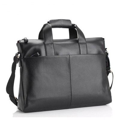 Buy BLACK HORIZONTAL Men's handbag 15.6 inch computer package business leisure single shoulder slant tide male bag for $27.92 in GearBest store