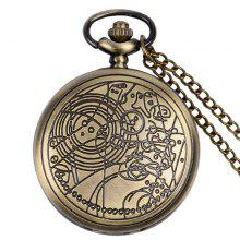 REEBONZ Vintage Doctors Hollow Quartz Pocket Watch Necklace Pendant