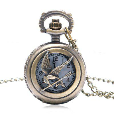 Buy REEBONZ Steampunk Vintage Hollow Quartz Pocket Watch Necklace Pendant COPPER COLOR for $7.89 in GearBest store