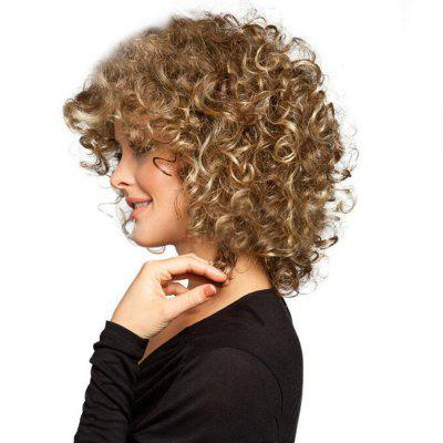 Comfortable Natural Color Change Medium And Long Curly Hair Ladies Chemical Fiber Hair