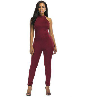 Large Size Women Sexy Backless Cross Irregular Solid Colored Body Catsuit