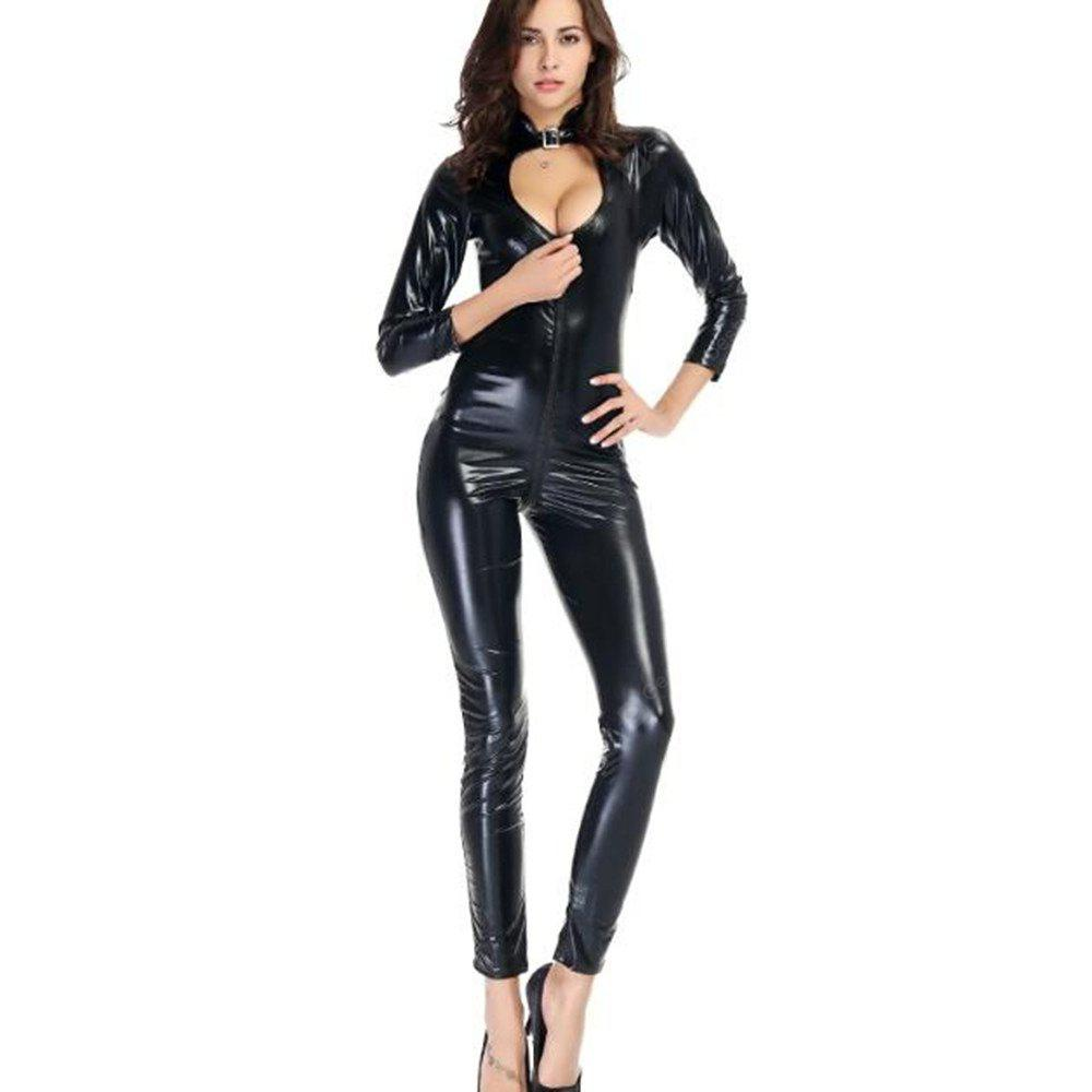 8b65be703ca1 Women s Vinyl Wetlook Faux Leather Catsuit Jumpsuit -  39.70 Free  Shipping