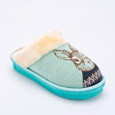 Warrior Home Slipper Anti-slip Warm Comfy Plush Lover Style Medium Top Warm Home Slipper