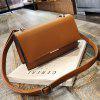 Female European and American Fashion Wild Shoulder Messenger Bag - BROWN