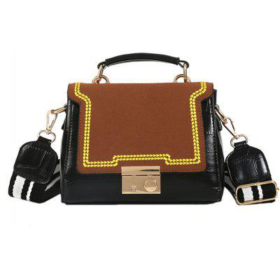 Female Fashion Buckle Shoulder Messenger Small Square Package