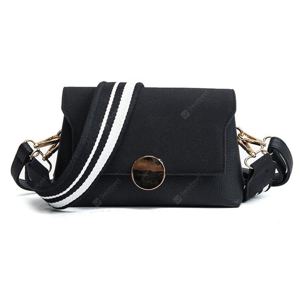 Female Messenger Wide Shoulder Strap Small Square Package