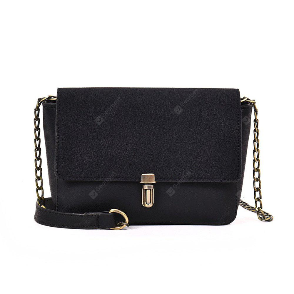 Female Retro Chain Shoulder Messenger Small Square Package