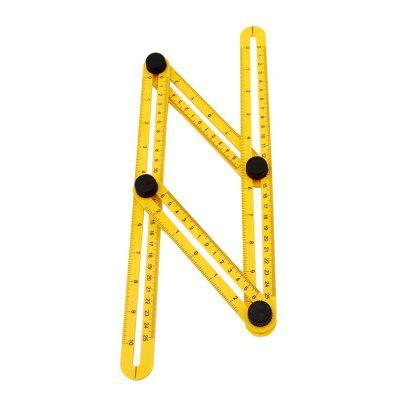 Measuring Template Tool Four-sided Ruler Mechanism Slide - YELLOW