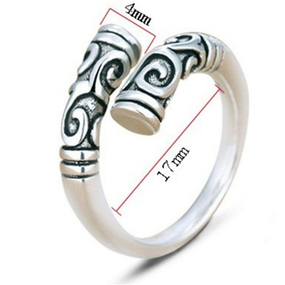 Sterling Silver Magic Spell Open Rings for Women Personality
