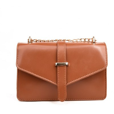 Fashion Chain Leather Handbag Shoulder Messenger Buckle Bag