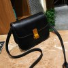 Simple and Stylish Shoulder Messenger Small Square Package - BLACK