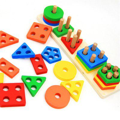 Colorful Wooden Geometric Sorting Board Toy