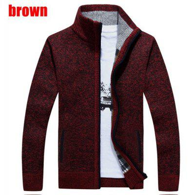 Autumn and Winter Men&amp;#39;s Knitted Wool Loose Large Size Plus Cashmere Thick CardiganMens Jackets &amp; Coats<br>Autumn and Winter Men&amp;#39;s Knitted Wool Loose Large Size Plus Cashmere Thick Cardigan<br>
