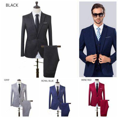 Buy Handsome High Quality Business and Leisure Suit A Two-piece Suit The Groom's Best Man Wedding 8 Colors men's fashion suitjacket asuit threepiecesuit bowtiesuit mentracksuit Blazer ROYAL BLUE S for $39.43 in GearBest store